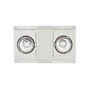 3-in-1 Bathroom Heater Fan Light - 480mm White