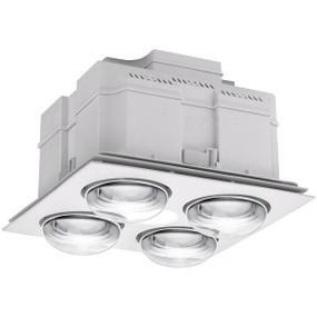 3-in-1 Bathroom Heater Fan Light - 407mm White
