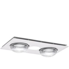 3-in-1 Bathroom Heater Fan Light - 386mm White
