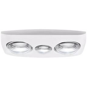 3-in-1 Bathroom Heater Fan Light - 205mm White