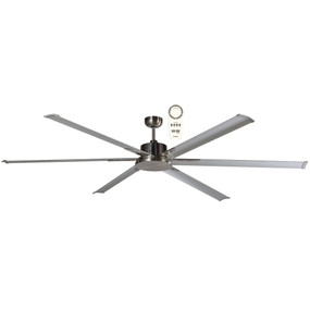 Majo Ceiling Fan With Remote - 180cm 72inch 35W Brushed Nickel 5 Speed
