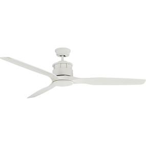 Meti Ceiling Fan - 152cm 60inch 70W White Satin 3 Speed