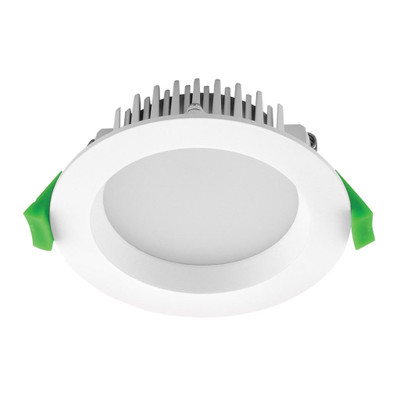 Round 13W Dimmable LED Downlight - White Frame / White LED