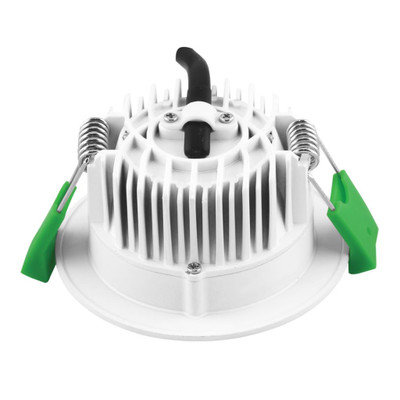 Round 8W Dimmable LED Downlight - White Frame / White LED