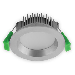 LED Downlight - Dimmable 8W 450lm IP44 Tri Colour 85mm Aluminium - Min10