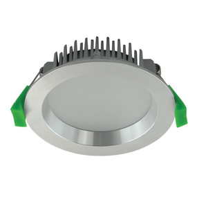 LED Downlight - Dimmable 13W 830lm IP44 Tri Colour 110mm Aluminium - Min10