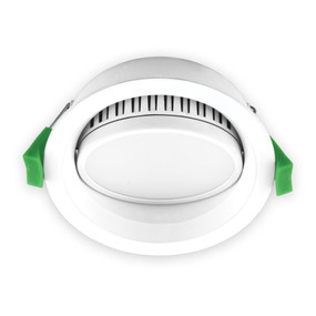 Gimble Downlight - Dimmable 13W 850lm IP44 Tri Colour 110mm White - Min10