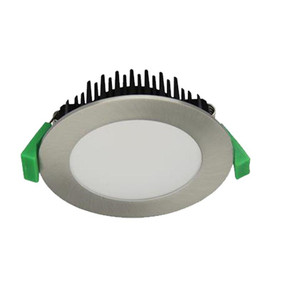 LED Downlight - Dimmable 13W 850lm IP44 Tri Colour 101mm Satin Chrome - Min10