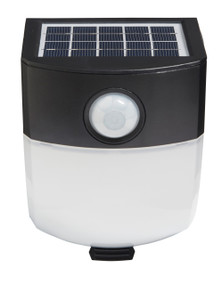 Solar Wall Light With Motion Sensor - 3W 300lm IP44 5000K 143mm Black and White
