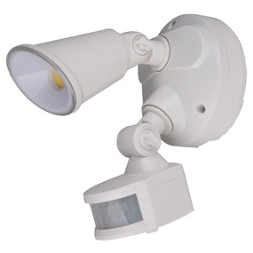 Security Light With Sensor - 10W 1000lm IP54 Tri Colour 170mm White