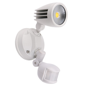 Security Light With Sensor - 15W 1250lm IP54 Tri Colour 226mm White