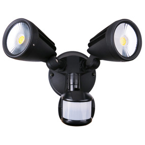 Security Light With Sensor - 30W 2500lm IP54 Tri Colour 170mm Matte Black