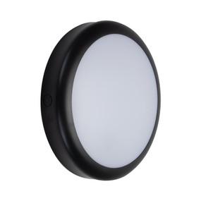 Marine Grade Vandal Resistant Wall or Ceiling Light - 25W 2320lm IP65 IK08 Tri Colour 300mm Round Black - Min10
