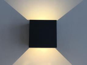 Adjustable Up Down Light - 2x3W LED 3000K IP54 208lm Black - Min10