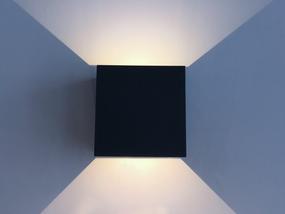 Adjustable Up Down Light - 2x3W LED 4000K IP54 214lm Black - Min10