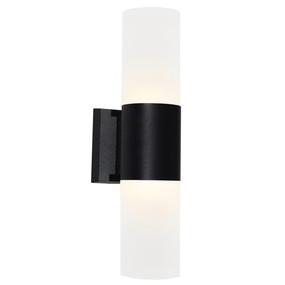 Up Down Light - Marine Grade Modern Cylinder 3000K 410lm Black - Min10