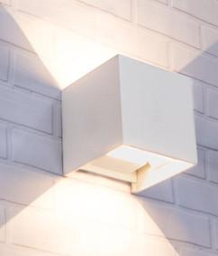 Up Down Light - Modern Box Shaped 3000K 408lm 100mm 6.8W Sand White - Min10