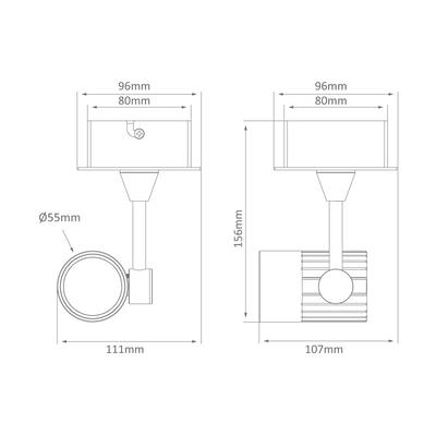Single LED Spotlight - White Finish / Warm White LED