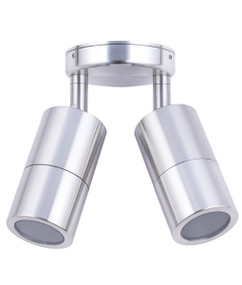 Ceiling Lights - 12V IP65 Adjustable 2 MR16 Spotlights Chrome C202 - Min10