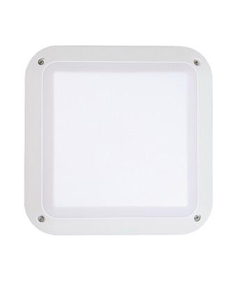 Bunker Lights and Bulkhead Lights | BULK series: LED Exterior Bulkhead Light - Square White Bulkhead