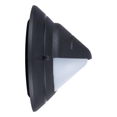 Oval Eyelid 240V Polycarbonate Wall Light - Black Base / E27