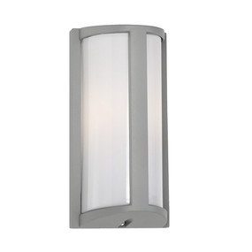 Outdoor Wall Light - Marine Grade Modern Rounded Vertical 253mm IP44 40W Silver - Min10