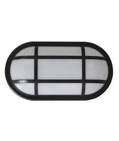 Bunker Light - Modern Cage Oval 3000K 1600lm 271mm 20W Black - Min10