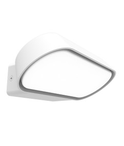 Outdoor Wall Light - Smooth Rectangular 3000K 330lm 74mm 13W White - Min10