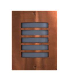 Outdoor Wall Light - Modern Grilled 280mm 60W Copper - Min10