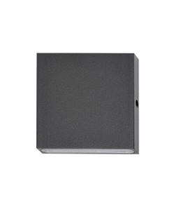 Outdoor Wall Light - Ultra Modern Box 12V 3000K 300lm 80mm 3W Black - Min10