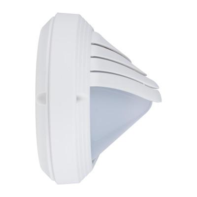 Oval Eyelid 240V Polycarbonate Wall Lights - White Finish / E27