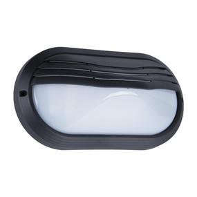 Oval Eyelid 240V Polycarbonate Wall Lights - Black Finish / E27