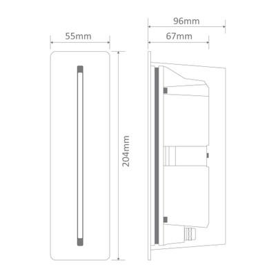BLADE 3W LED Steplight - Silver Frame / White LED