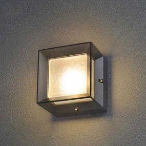 6W LED Stunning Warm White Box Glass Black Wall Light - Min10