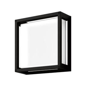 Wall Light - Vandal Resistant 12W 850lm IP65 IK08 5000K 250mm Black - Min10