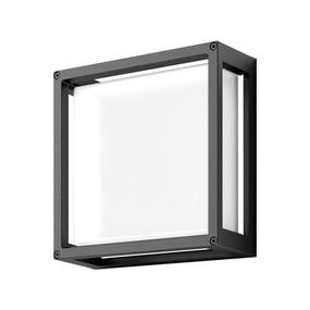Wall Light - Vandal Resistant 12W 850lm IP65 IK08 5000K 250mm Dark Grey - Min10