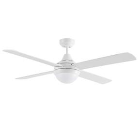 Ceiling Fan With Light - 122cm 48inch E27 55W White 3 Speed - Min10