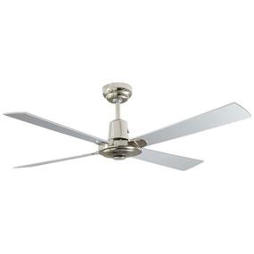 Ceiling Fan - 122cm 48inch 60W Brushed Nickel 3 Speed - Min10