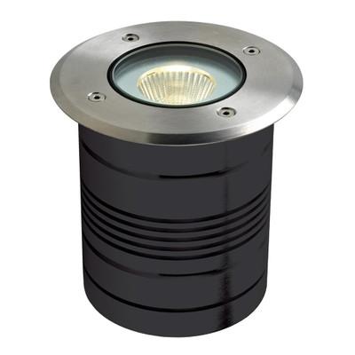 24V 9W LED Inground Light - Aluminium Finish / Warm White LED