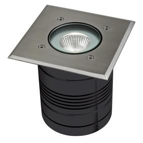 24V 9W LED Inground Light - Aluminium Finish / White LED