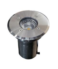 Ground Light - 12V Marine Grade 316 Stainless Steel MR16 20W IP67 90mm Round - Min10