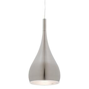 Contemporary Satin Chrome Pendant Light - Modern - Min10