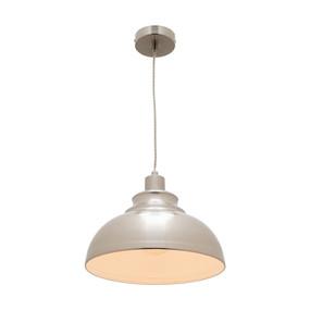 Cougar Risto 1 Light Pendant - Satin Chrome - Min10