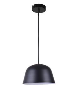 Pendant Light - Modern Angled Dome 155mm 40W Matte Black - Min10