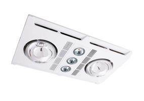 3-in-1 Bathroom Heater Fan Light - 1890lm 3000K 480mm White - Min10