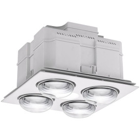 3-in-1 Bathroom Heater Fan Light - 407mm White - Min10