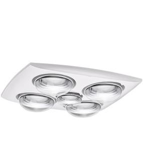 3-in-1 Bathroom Heater Fan Light - IPX4 400mm White - Min10
