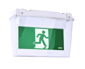 Weatherproof Emergency Exit Sign - Industrial Strength LED 2W IP65 24m 2 Hours Green - Min10