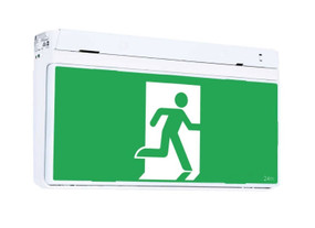 Emergency Exit Sign - Industrial Strength FastFit Compatibe LED 2W 24m 2 Hours Green - Min10