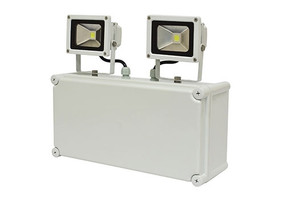 Emergency Flood Light - Industrial Strength Weatherproof LED 2000lm IP65 Multimode (Maint and Non-Maint) 2 Hours - Min10